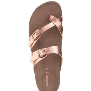 NWT Madden Girl Rose Gold sandals
